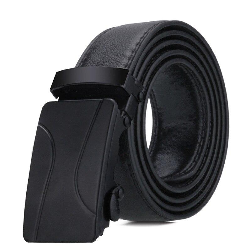 BLACK Automatic Buckle Belt Young People  Fashion Black Simple Buckle Highgrade Luxury Business Belt Ceinture Homme P54