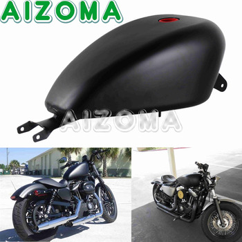Motorcycle Oil Fuel Tank 3.3 Gal Gas Tank for Harley XL 883 1200 Sportster Forty-eight SuperLow Custom Seventy-two 2007-2018 for harley sportster 1200 iron 883 roadster forty eight custom seventy two superlow motorcycle sissy bar passenger pad backrest