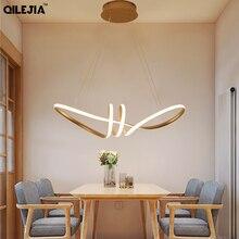 LED kolye ışık altın rengi yemek odası oturma odası mutfak armatürleri LED kolye lamba asılı lamba aydınlatma armatürleri