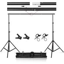 Foto Video Studio 9.8ft Verstelbare Achtergrond Stand Achtergrond Support System Kit Met Draagtas