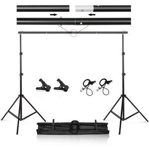 Image 1 - Fotoğraf Video Studio 9.8ft ayarlanabilir arkaplan standı taşıma çantası ile Backdrop destek sistemi seti
