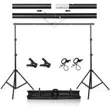 цена на Photo Video Studio 9.8ft Adjustable Background Stand Backdrop Support System Kit with Carry Bag