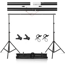 Foto Video Studio 9.8ft Verstelbare Achtergrond Stand Achtergrond Support System Kit Met Draagtas(China)