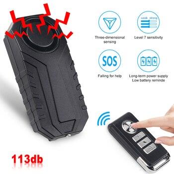 Waterproof Bike Anti-Theft Alarm Wireless Remote Control Motorcycle Bicycle Security Alarm 113dB Electric Car Alarm Sensor