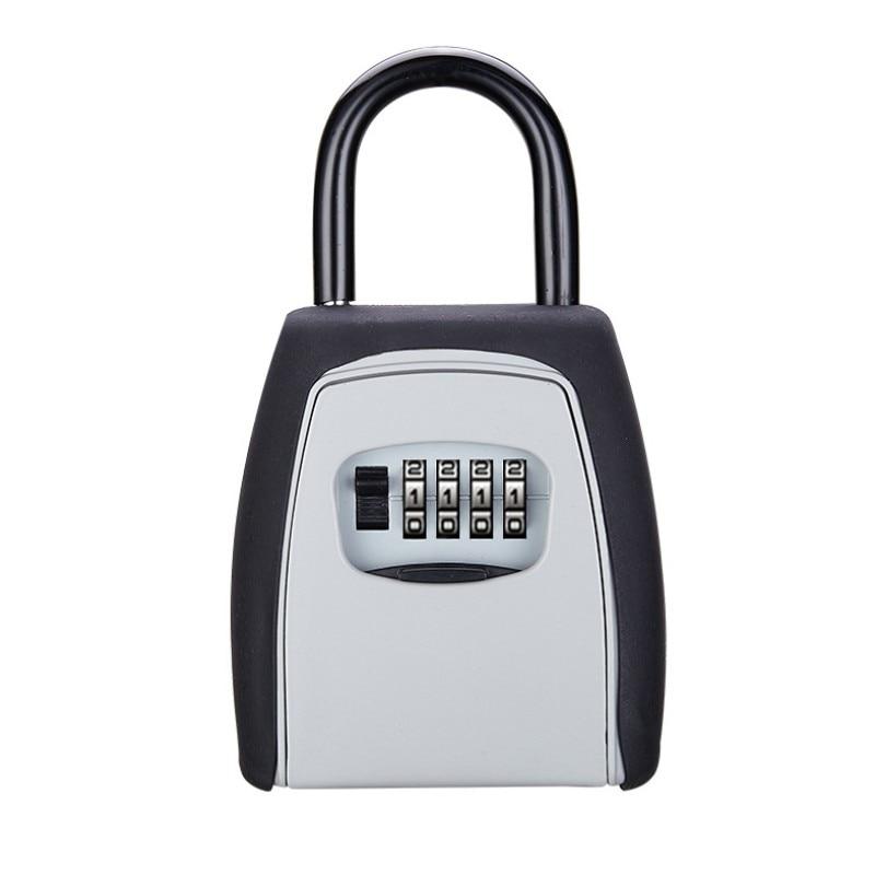 Keys Storage Box Key Storage Lock Box Safe Box Use Password Lock Alloy Material Keys Hook Security Organizer Boxes