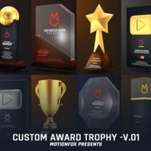 Custom Award Trophy Loopable Pack v.01 - Videohive Download 23563822