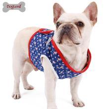 Fashion Denim Jeans Dog Harness Vest Walking Reversible Pet