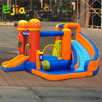 2020 New Design Wholesale Inflatable Kids Slide Water Park Bounce House with Slide for Kids Party with Blower Outdoor