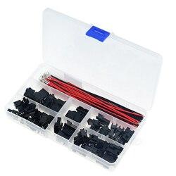 Conjuntos de 82 unidades/caja 3A JST SM2.54 en caja 2P 3P 4P 5P 6P 2,54mm de paso hembra y macho conectores de cabecera adaptador SM-2P 22AWG