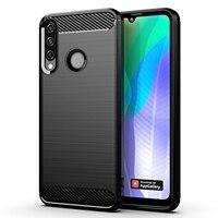 Funda de teléfono con textura cepillada para HUAWEI Y, carcasa de lujo de fibra de carbono A prueba de golpes, para modelos 9, 8, 7, 6, 5 S, P, A PRO Prime