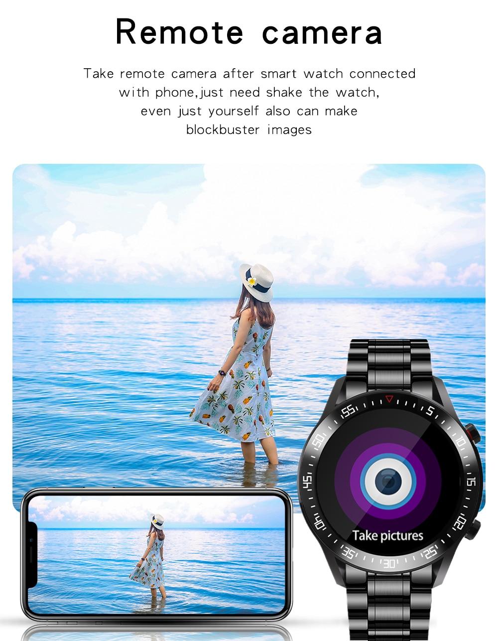 Ha417d57c56ea45f6a695ded751307c34X XUESEVEN 2021 HD Full circle touch screen Mens Smart Watches IP68 Waterproof Sports Fitness Watch Fashion Smart Watch for men