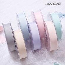 1cm Plain Silk Ribbon Flower Gift DIY Thread Bow Packaging Material