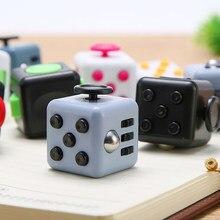 1 pc mão para o autismo tdah ansiedade alívio foco crianças 6 lados magia anti stress cubo spinner brinquedos jogos dobbelstenen speelgoed