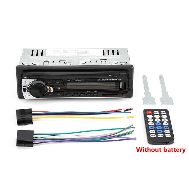 AMPrime Bluetooth Autoradio Car Stereo Radio FM Aux Input Receiver SD USB JSD-520 12V In-dash 1 din Car MP3 Multimedia Player 5