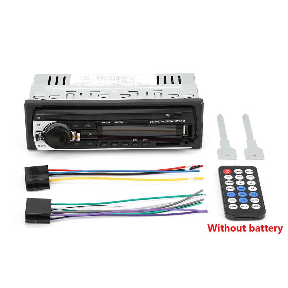 Amprime Bluetooth Autoradio Stereo Xe Hơi FM Aux Đầu Vào Đầu Thu SD USB JSD-520 12V-Vân 1 DIN xe MP3 Đa Phương Tiện