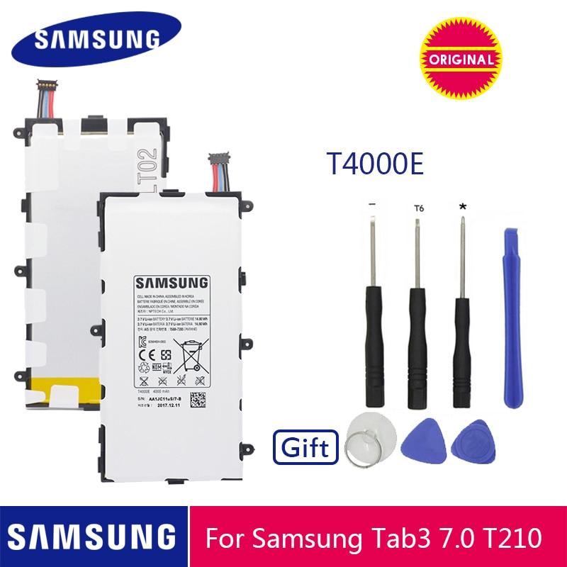 SAMSUNG Original Battery T4000E 4000mAh For Samsung Galaxy Tab 3 7.0 T211 T210 T215 T210R T217A SM T210R T2105 P3210 P3200-in Mobile Phone Batteries from Cellphones & Telecommunications on