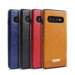Étui pour samsung Galaxy S8 Plus S6 Edge S7 S7Edge S8 S9 S10 Plus Note 8 9 protection d'écran de luxe en cuir PU souple