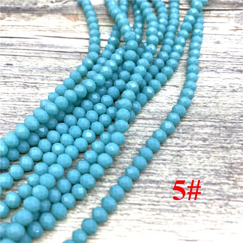 148 шт 2x3 мм/3x4 мм/4x6 мм хрустальные бусины Рондель граненые стеклянные бусины для изготовления ювелирных изделий DIY женский браслет ожерелье ювелирные изделия - Цвет: NO.5