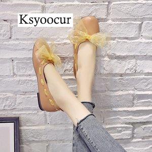 Image 5 - ยี่ห้อ Ksyoocur 2020 ใหม่สุภาพสตรีแบนรองเท้ารองเท้าสบายๆผู้หญิงรองเท้าสบายๆรอบนิ้วเท้ารองเท้าแบนฤดูใบไม้ผลิ/ฤดูร้อนผู้หญิงรองเท้า x06