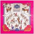 130 см саржевый шелковый шарф с принтом лошади большой квадратный шарф Женская Бандана шаль роскошный бренд шарф шарфы для женщин