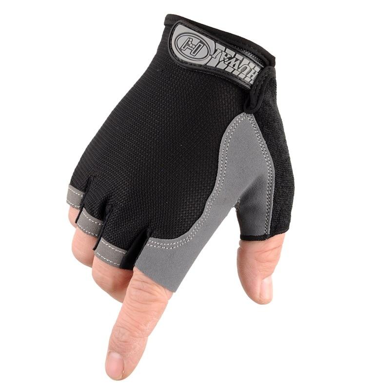 Men/'s Half Finger Summer Mesh Driving Gloves Cycling Cotton Sport Gym LIN