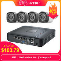KERUI Im Freien Wasserdichte 4MP Kamera AHD 1 TB HDD 4CH Home Security Camera System DVR Kits HDMI CCTV Video Überwachung system Kit