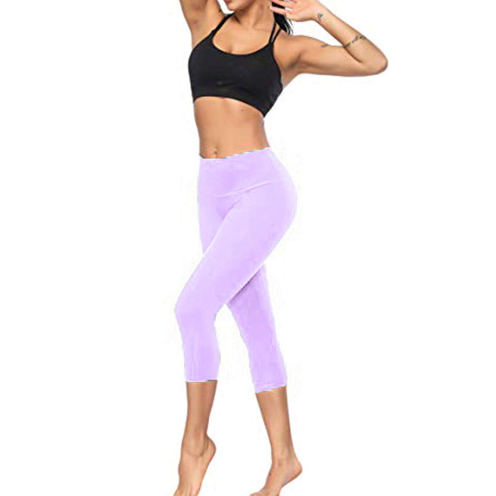 5 Pieces Women's Solid Color Hips Pants Sports  Leggings With Pocket Fashion Popular2019 Nylon