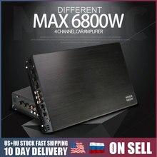 DC 12V 6800W Max 4 канальный автомобильный усилитель звука класса A/B, домашний сабвуфер, аудио стерео басовый динамик, автомобильные аудио усилители