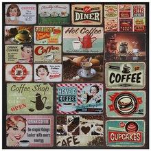 Пить Кофе бар металлическая пластина Плакат Бар Кафе Настенный