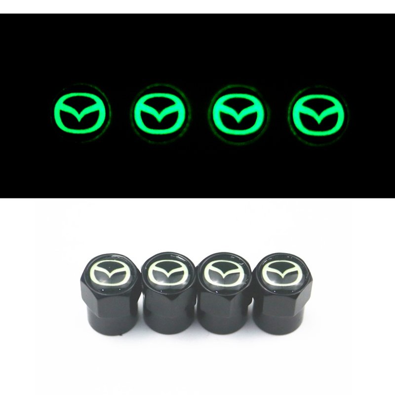 New Luminous Auto Emblem Metal Cap Case For Mazda 2 Mazda 3 MS For Mazda 6 CX-5 CX5 Car-Styling Badge Accessories 4pcs