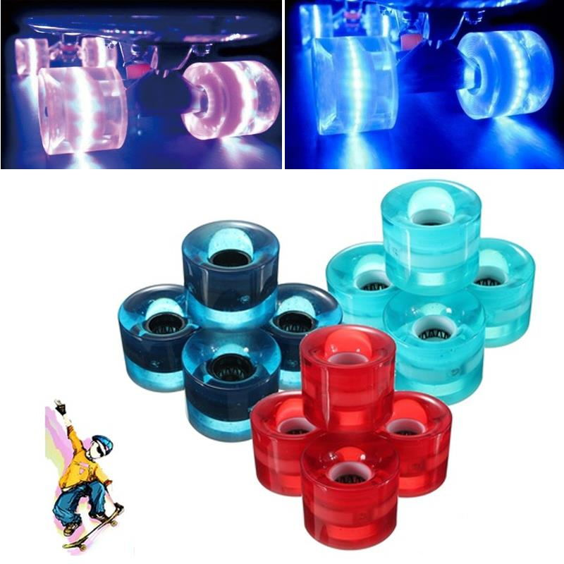 1pcs High Quality 3 LED Flash Skateboard Wheel For Banana Board Street Skate Longboard Skateboard Accessories