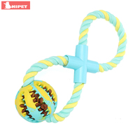 Cotton Dog Rope Toys Rubber Bite Ball for Small Large Dogs Interactive Funny Puzzle Food Eating Slowly Puppy Pets Dog Chew Toy