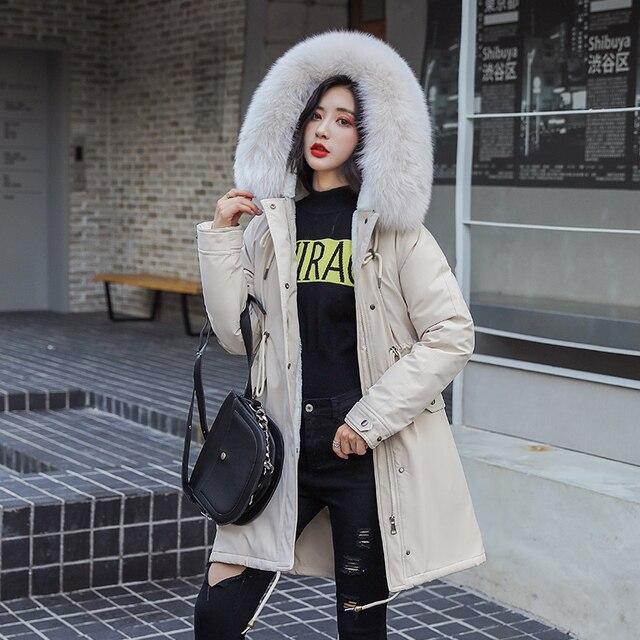 Nuevo abrigo largo de mujer Otoño Invierno terciopelo cálido grueso abrigos de piel sintética Parka mujer sólido chaqueta con bolsillos grandes prendas de vestir