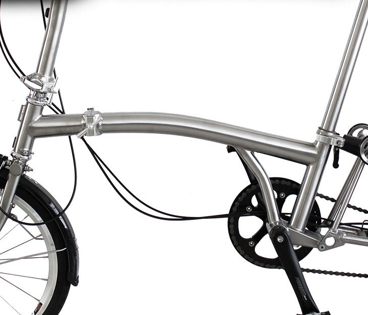Titanium Folding Bike Frame For Brompton  GR9 TI3AL2.5V