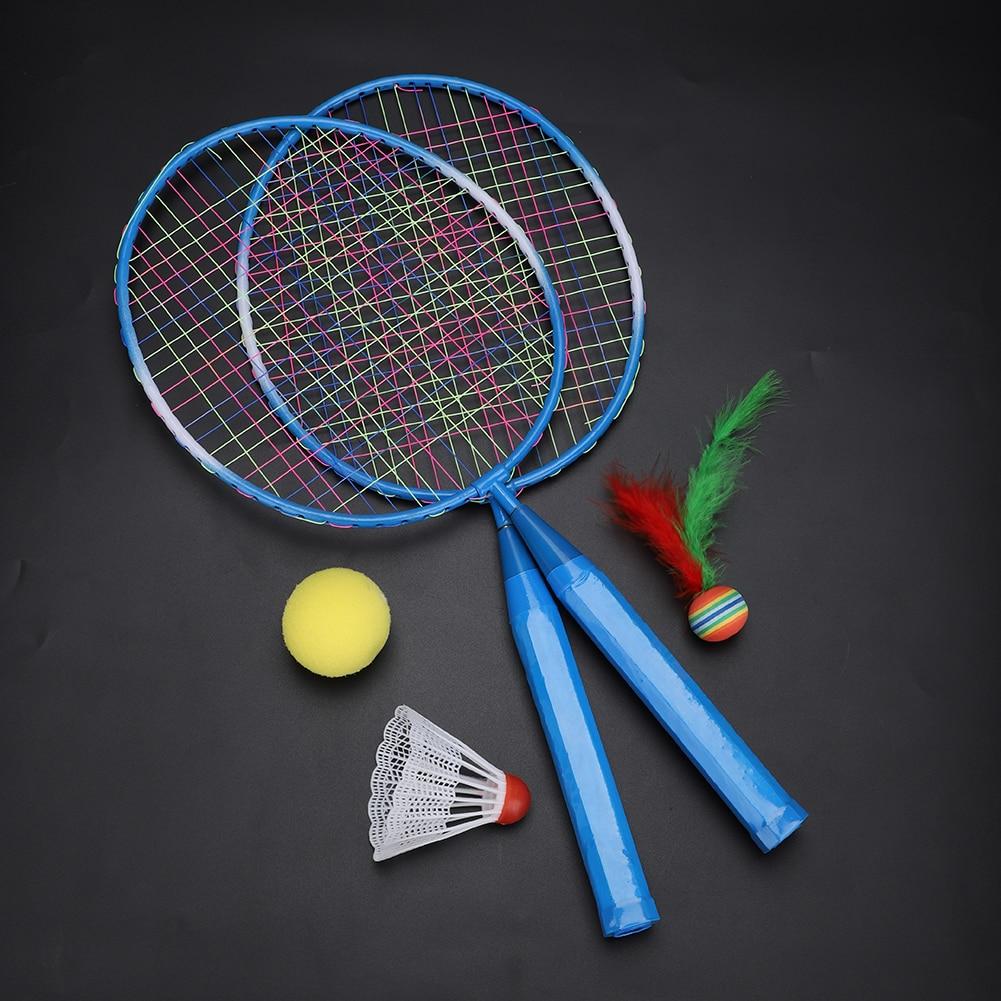 2pcs Professional Badminton Rackets Set Family Double Badminton Racquet Titanium Alloy Lightest Playing Badminton