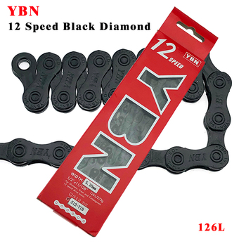 YBN Bicycle 12 Speed Chain 126L Black diamond MTB Mountain Road Bike Chains For Sram Shimano Campanolo System