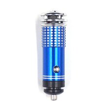 Mini Auto Car Fresh Air anion Ionic Purifier Oxygen Bar Ozone Ionizer cleaner Vehicle Air Freshener With Blue Light Decorations