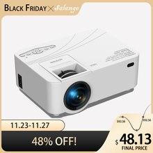 Salange P36 vidéo Projecteur  ,480P 2500 Lumens, Mini projecteur de cinéma maison LED avec Android 10.0 en option WiFi AV HDMI USB