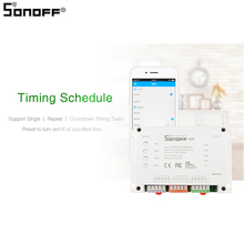SONOFF 4CH R2/PRO R2 Smart Switch, 4-channel WIFI Smart Home Timer Light Switch for Google Home Work with EweLink WiFi Switch