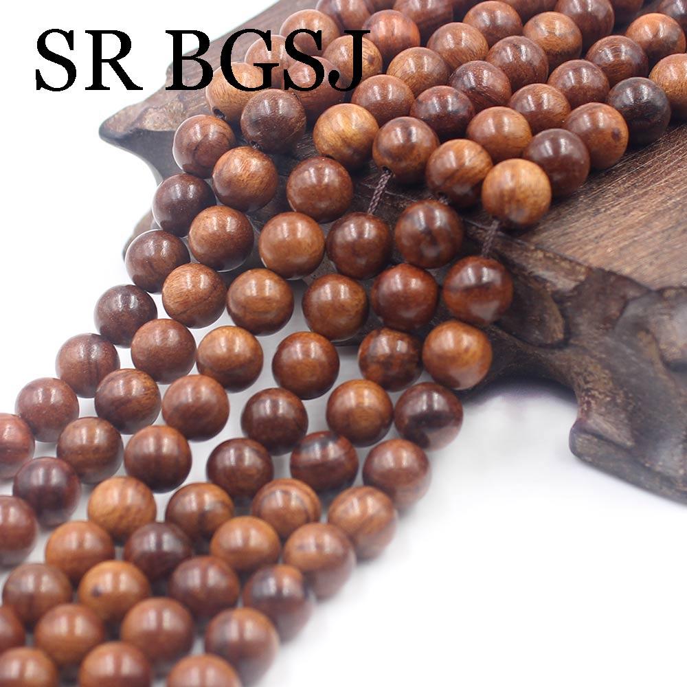 Natural Round Starry sandalwood Mala Meditation Loose Beads 108 Pcs  6 8 10mm