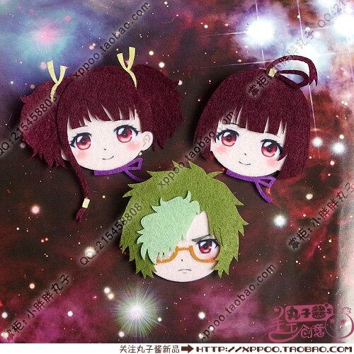 Cute Anime Koutetsujou No Kabaneri Mumei Ikoma Cosplay Badge Nonwoven Fabric Button Brooch Pin Bedge Gifts