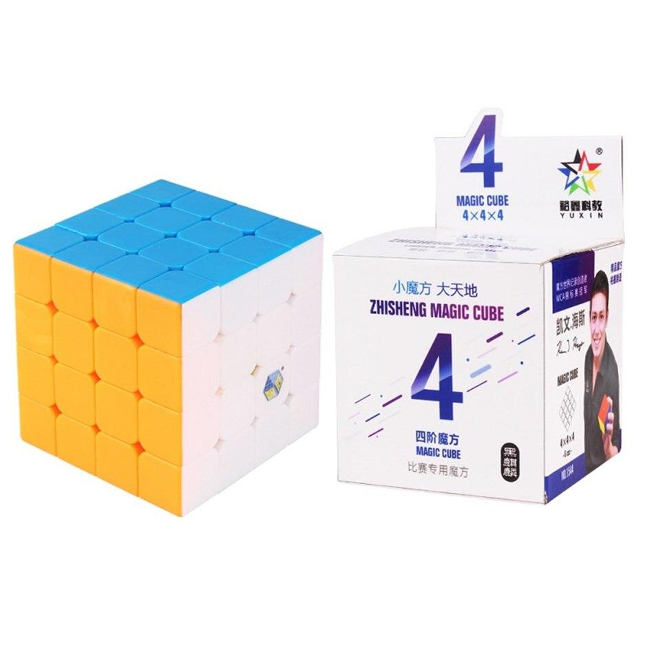 YuXin 4x4 Cube magique noir Kirin 4x4x4 Cube magique 4 couches vitesse Cubo Magico Puzzle jouets pour enfants enfants cadeau jouet