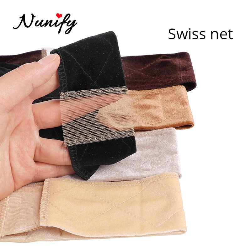 Nunify koronkowa peruka Band Hand Made antypoślizgowa peruka Grip Band do trzymania gumki dwustronna aksamitna regulowana peruka opaskę do włosów