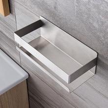 Metal Bathroom Shelf Stainless Steel Shower Shelf No Drilling Required Organizer Wall Mount Shampoo Rack Self Adhesive Kitchen