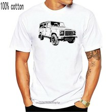 2019 New Summer Men Hip Hop Tee Shirt British Car Defender 110, T-Shirt Defender110 Slim T-shirt