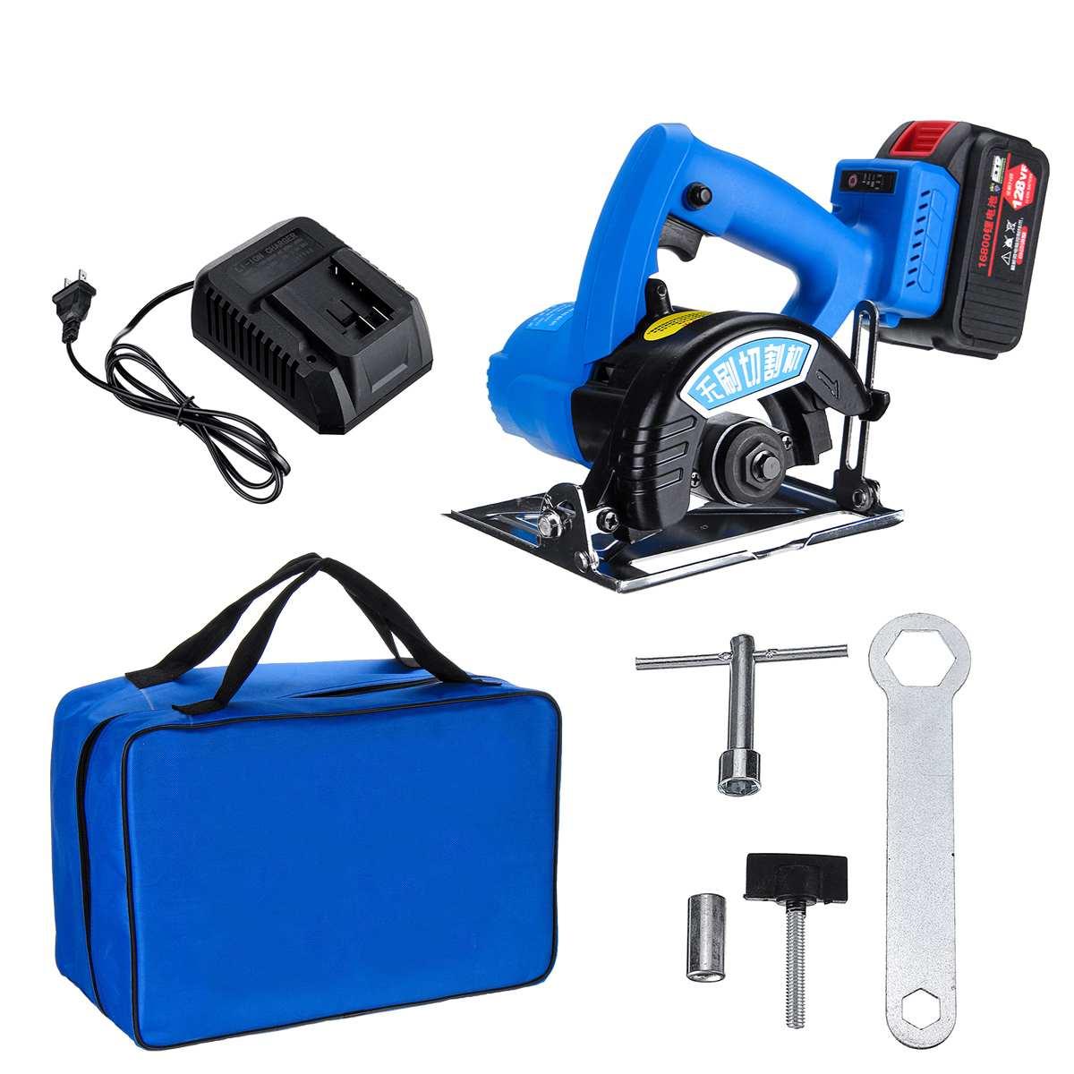 128VF 1000W scie circulaire électrique sans fil sans brosse 125mm lame scie outils de travail du bois Machine de découpe de carreaux de métal Rechargeable