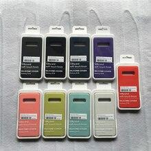 Original Seidige Silikon Flüssigkeit S10E Abdeckung Soft Touch Zurück Schutzhülle Für Samsung Galaxy S20 plus S20 Ultra Mit BOX LOGO