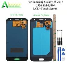 Alesser לסמסונג גלקסי J5 2017 J530 SM J530F LCD תצוגת מסך מגע Amoled עם בהירות להתאים + כלים הרכבה חלק