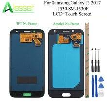 Alesser para Samsung Galaxy J5 2017 J530 SM J530F pantalla LCD y pantalla táctil Amoled con ajuste de brillo + piezas de montaje de herramientas