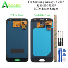 Alesser para samsung galaxy j5 2017 j530 SM J530F display lcd e tela de toque amoled com brilho ajustar + ferramentas montagem parte